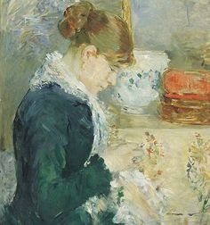 Berthe Morisot    Woman Sewing    1879