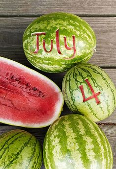 Nothing says Independence Day like a juicy watermelon!