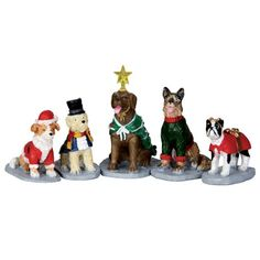 2014 NEW Lemax General Collectibles Figurine: Costumed Canines #32126