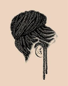 Braids Really Cool African Hairstyles Black Love Art, Black Girl Art, Art Girl, How To Draw Braids, How To Draw Hair, African American Art, African Art, Natural Hair Art, Natural Hair Styles