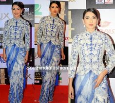 Gauhar Khan in a Jacket Saree
