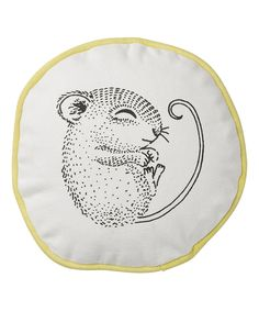 Love this Lemon Trim Sleeping Mouse Throw Pillow by Bloomingville on #zulily! #zulilyfinds