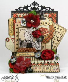 An BC Primer Fancy Fold Card by Ginny #graphic45