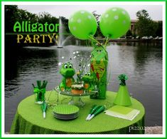 wyatt keeps telling me he wants an alligator party for his birthday