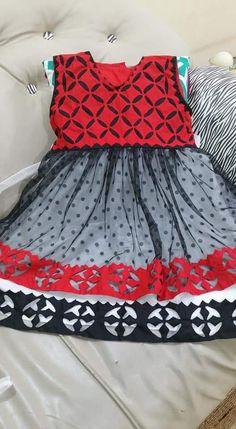 Stylish Dresses For Girls, Stylish Dress Designs, Lovely Dresses, Little Girl Dresses, Dresses For Work, Baby Dresses, Girls Dresses, Kurti Embroidery Design, Embroidery Dress