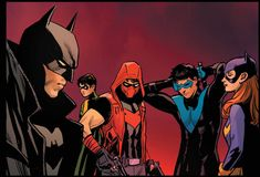 Batman Red Hood, Batman And Superman, Batman Robin, Nightwing And Batgirl, Batwoman, Gotham Villains, Comic Style Art, Batman Universe, Dc Universe