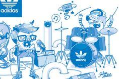 rock and power!!! :)   Adidas Original by Julian Ardila, via Behance