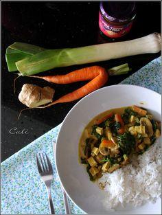 Curry de Tofu aux Champignons & Epinards 002