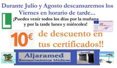 https://www.facebook.com/aljaramed.reconocimientosmedicos/photos/a.200104570124001.50089.196045177196607/803455569788895 Durante julio y agosto cerramos viernes por la tarde. Abrimos todos los días por la mañana, y las tardes de lunes y miércoles.  ALJARAMED facebook.com/aljaramed.reconocimientosmedicos Av. Constitución, 16, A, Bollullos de la Mitación Tfno. 955 327 195  Promocionado por Globalum. Marketing en Redes Sociales facebook.com/globalumspain