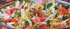 This salad of grapefruit, walnuts and endive leaves is bursting with citrus flavor and festive colors - a great side dish recipe to perk up a meal.