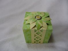 Green and Yellow Gift Box by Vikster on Etsy, $3.50