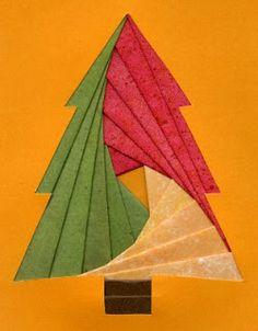 """Játékos tanulás és kreativitás: Karácsonyi képeslap """"iris folding"""" technikával"""