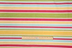 9.7 Yards Robert Allen Horizontal Stripe Printed Drapery Fabric
