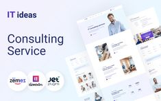 ITIdeas - Consulting Website Template for WordPress Theme Template Site, Templates, Top Wordpress Themes, Wordpress Template, Website Design Inspiration, Modern Website, Professional Website, Website Themes, Business Website