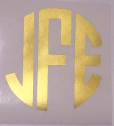 Round/Block Monogram - No Border by MCinSCDesigns on Etsy