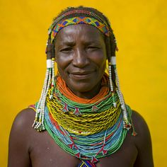 africa  mumuhuila tribe, vilanda necklace  