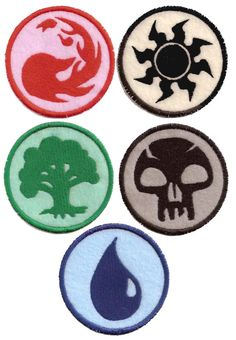 Magic: The Gathering sew on patches! I want to put these on my gi or something. #mtg #magicthegathering