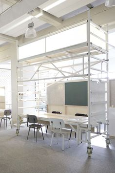 dave keune in collaboration with PROUD realizes design innovation space. an open, flexible meeting space focusing on collaboration in strijp-s, eindhoven.