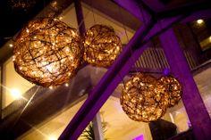 Great lighting for inside. Twine balls stuffed with twinkle lights. Flower Decorations, Wedding Decorations, House Tent, Tent Lighting, Aisle Style, Our Wedding, Spring Wedding, Wedding Reception, Wedding Stuff
