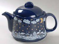 Winter night teapot