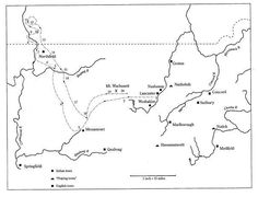 map of mary rowlandson s captivity journey mary rowlandson  mary rowlandson essay the captivity of mary rowlandson