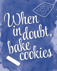 Bake Cookies Kitchen Print by ShopCrystalFaye on Etsy, $12.00
