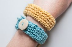 Easy Knitted Bangles | Maker Crate
