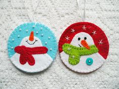 Hey, I found this really awesome Etsy listing at https://www.etsy.com/listing/252764421/christmas-tree-ornaments-felt-snowman