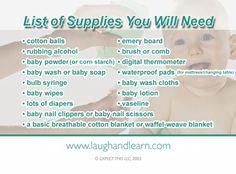 Baby Care Supply List  #pregnancy, #newborn,