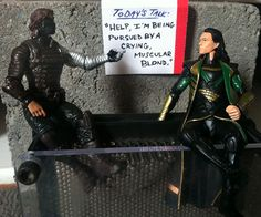 "The Winter Soldier and Loki have created a mutual support society. ""Mr. Barnes has the floor."""