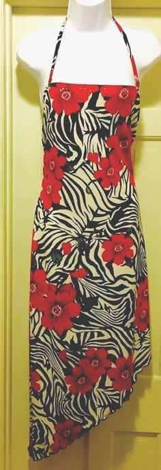 CACHE Red, Blue,White 🌴 TROPICAL THEME Evening Ballroom Dress;Clear Sequins,10  | eBay