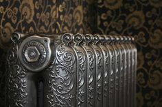 Original Ornate radiator believed to be from the Beeston foundry manufactured in the early shown here with a hand polished finish. This radiator has been fully restored and is ready to go. Cast Iron Radiators, Door Handles, Restoration, It Is Finished, The Originals, Door Knobs, Door Knob