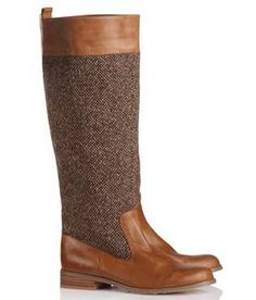 Bottes cuir et tweed CAMEL by MELLOW YELLOW