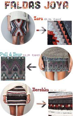 una tendencia, cinco precios: faldas joya | Mi Low Cost