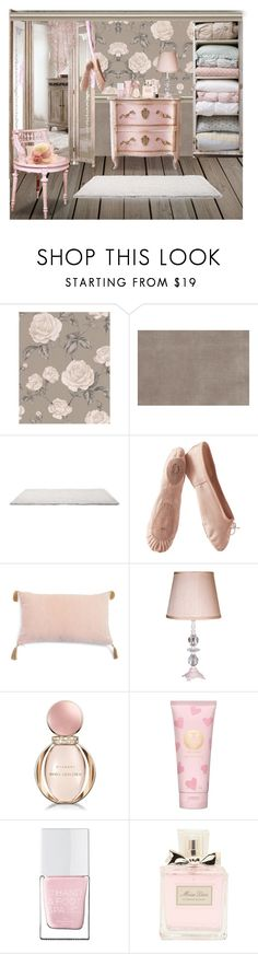 """""""Pink Decor"""" by terry-tlc ❤ liked on Polyvore featuring interior, interiors, interior design, home, home decor, interior decorating, Graham & Brown, Trilogy, Porselli and Maura Daniel"""