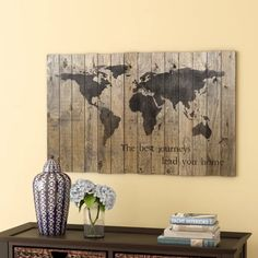 Breakwater Bay 'World Map' Graphic Art on Plaque & Reviews | Wayfair.ca