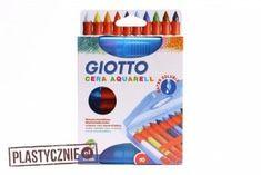 Zestaw 10 kredek akwarelowych Cera Giotto White Out Tape, Wax