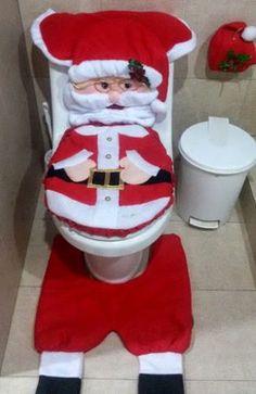 Resultado de imagen para juegos de baño navideños Christmas Deco, Vintage Christmas, Christmas Crafts, Xmas, Crochet Home, Elf On The Shelf, Santa, Holiday Decor, Pattern