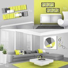 jouez les contrastes en associant une peinture jaune citron à