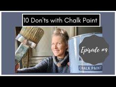 10 choses à ne pas faire avec Chalk Paint: Chalk Paint 101 Questions et réponses: Épisode 9 - YouTube Chalk Paint Techniques, Furniture Painting Techniques, Painting Tips, Chalk Paint Table, Chalk Paint Tutorial, Blue Painted Furniture, Annie Sloan Chalk Paint, Paint Stain, Youtube
