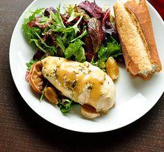 slow-cooker lemon garlic chicken