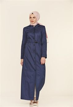 Çıkarılabilir Kapüşon Kumaştan Kemerli İndigo Pardesü Indigo, Raincoat, Jackets, Fashion, Down Jackets, Moda, Indigo Dye, Fashion Styles