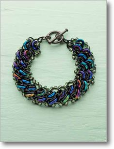 Add sparkle to a chain maille bracelet