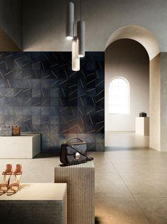YOKO 01 - Metal tiles from De Castelli | Architonic Iron Sheet, Sheet Metal, Yoko, Contemporary, Modern, Wall Design, Designer, Tiles, Interior Decorating