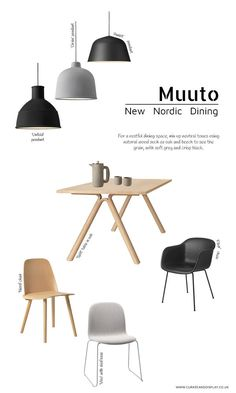 New Nordic Dining Spaces | Muuto furniture | Scandinavian dining room | Scandi style | Minimalist dining room | minimalist furniture | oak dining table | pendant lamps