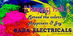 Spread the colors of happiness and joy. Happy Holi!!! http://goo.gl/HzaZmm