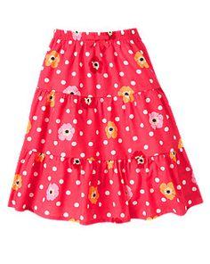 Dot Poppy Tiered Skirt
