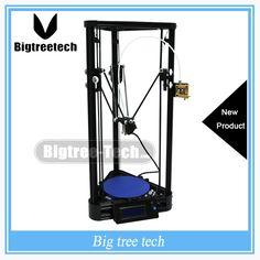 174.60$  Buy here - http://ali2c3.worldwells.pw/go.php?t=32695931167 - Diy 3D Printer Kit Full Self-assembly Delta 3D Printer Kossel Pulley Guide Rail Version DIY Kit Large Printing Size For BIQU 174.60$