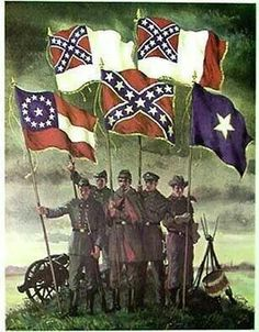 Confederate flags that represent our separate identity as a free and independent Republic.