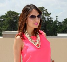 Express Peplum, and layered pearls|Pretty In Her Pearls